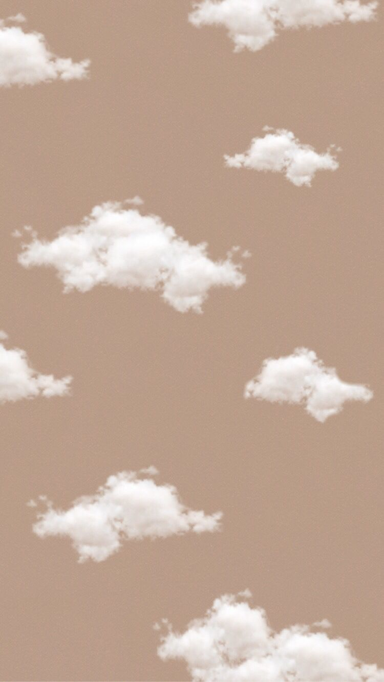 Cloud Background Brown Background Aesthetic Background