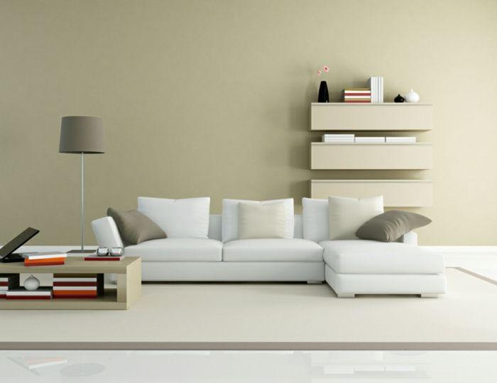 Wände Streichen Ideen   Neutrale Wohnzimmer Wandfarbe