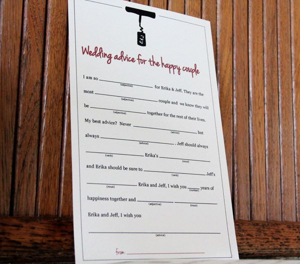 bridal shower game mad libbs inspired by the knot get advice from guests in this easy little bridal shower game wine theme bridal shower