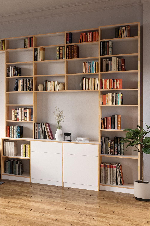 Individuelles Bücherregal Nach Maß Regalsystem Wohnzimmer Bücherregal Regal