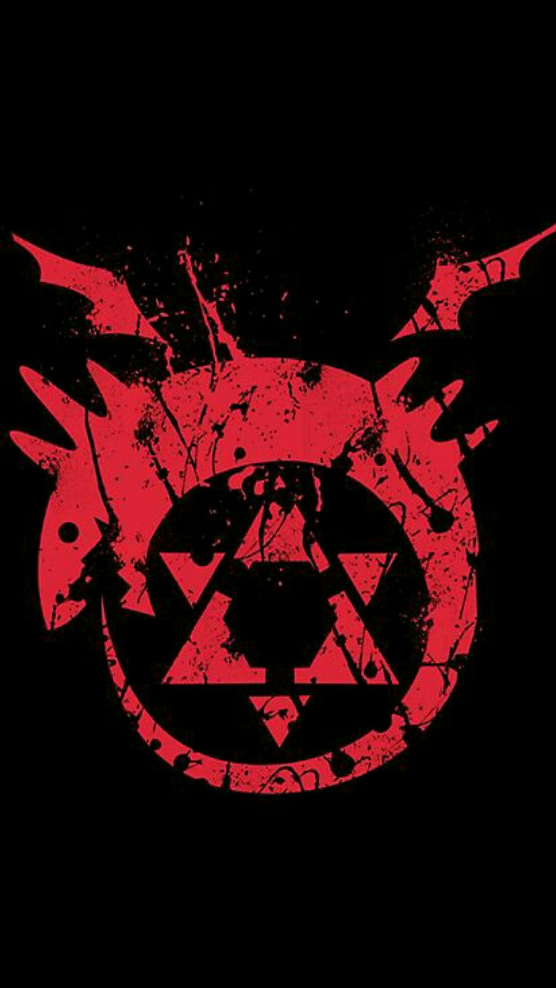 anime fma black wallpaper android iphone Fullmetal