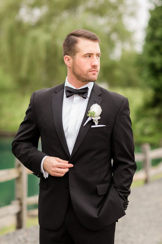 Classic black tuxedo and bowtie by Vera Wang BLACK | Photo by ...