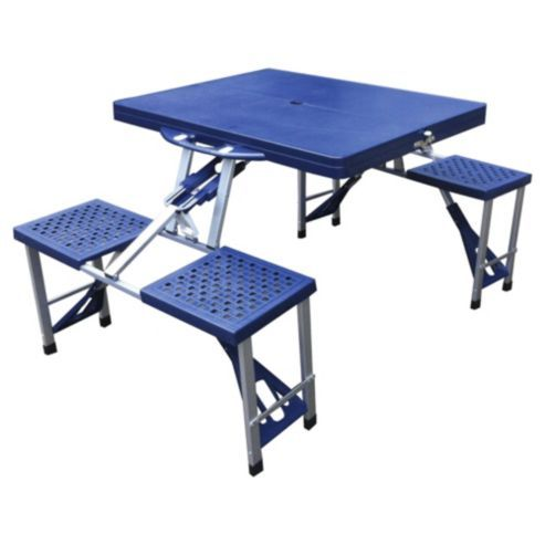 Tesco Folding Camping Picnic Table Chairs