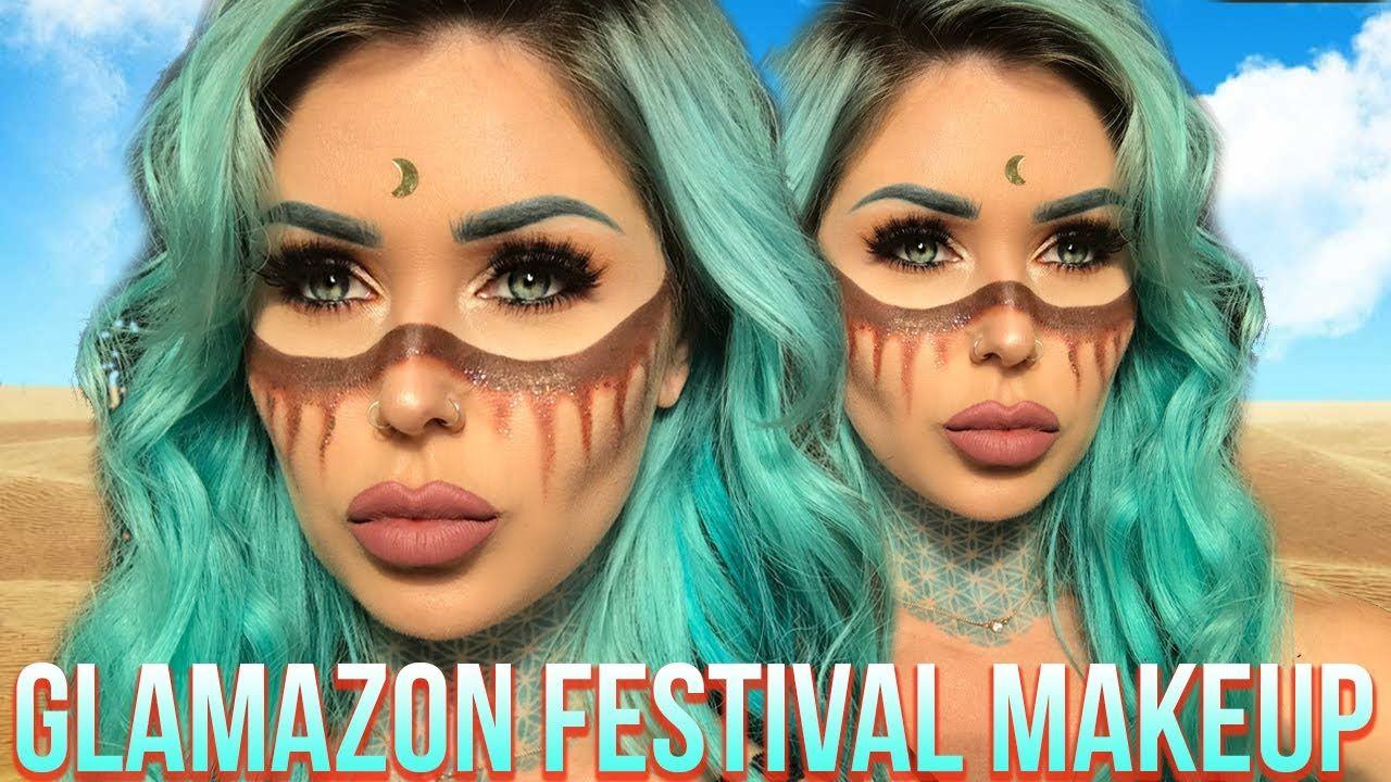 Glamazon Festival Makeup Tutorial Kristenleannestyle Festival Makeup Festival Makeup Tutorial Nikkie Tutorial