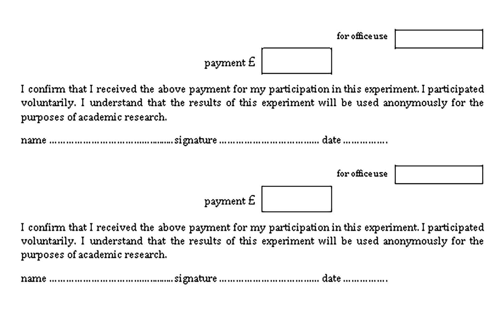 Payment Receipt Samples