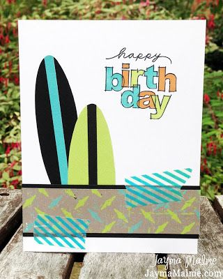 Surfer In The Sunset Birthday Card male card Have A Great Day Happy Birthday
