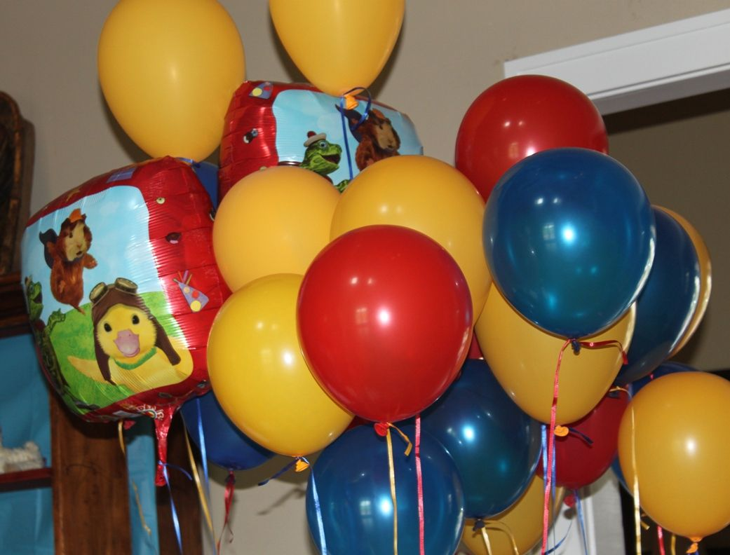 Red Golden Yellow And Blue Party Colors Colorful Party Animal Party Wonder Pets