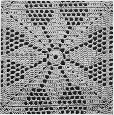 Vespers Bedspread Pattern 655 Swatch Free Crochet Pattern
