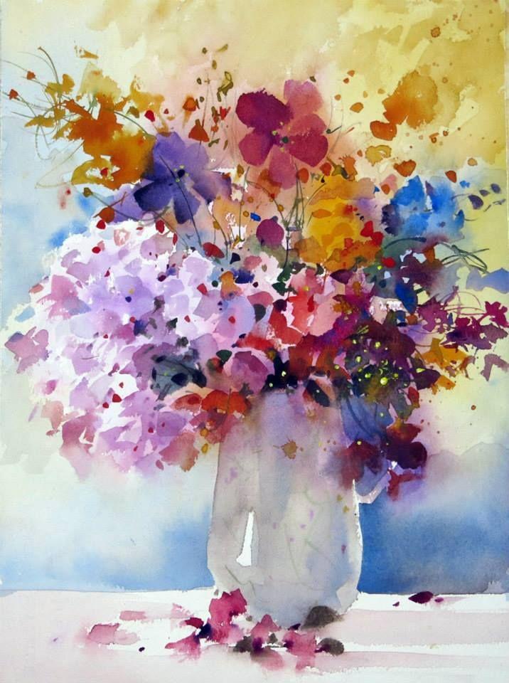 Pittaya Tamornsuwan Watercolor Jd Floral Painting Flower