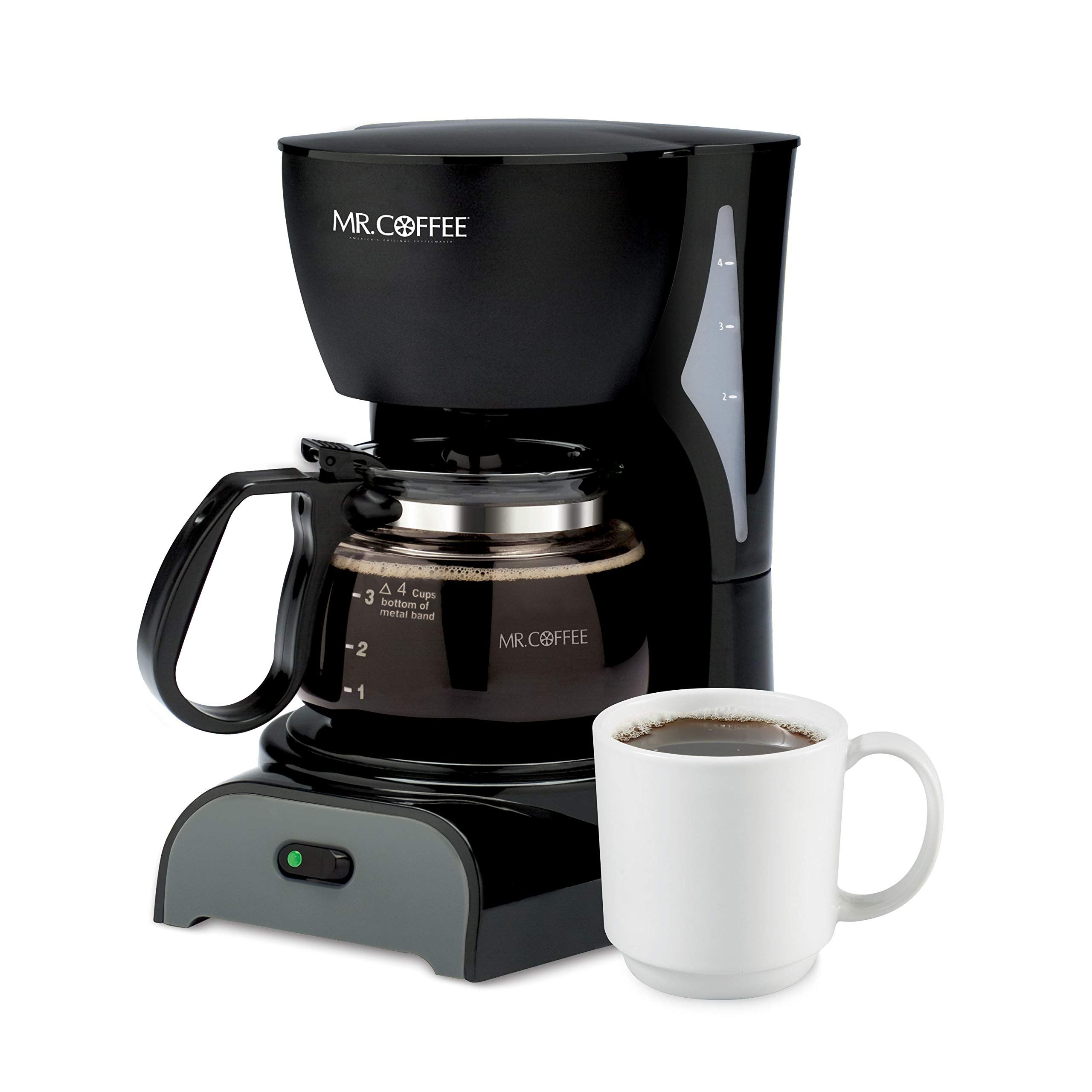 Mr. Coffee Simple Brew Coffee Maker4 Cup Coffee Machine
