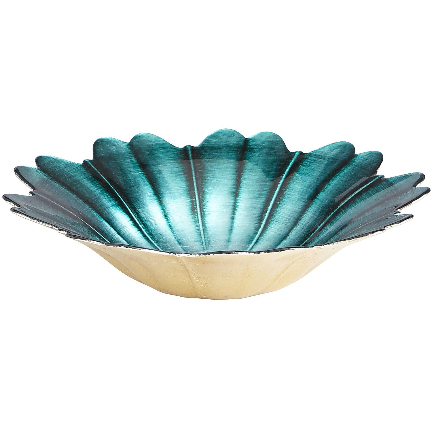 Turquoise and Earth Tone Sparkly Decorative Bowl