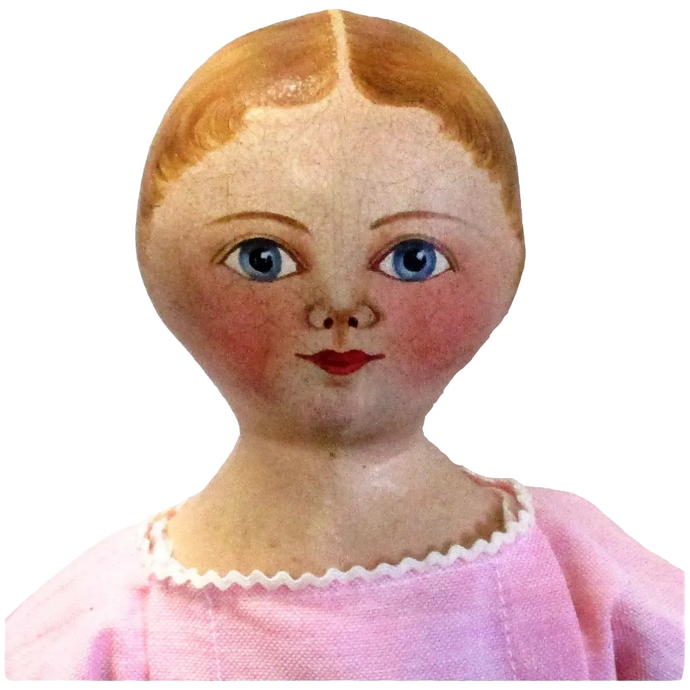 18 Inch Maggie Bessie Oil Painted Cloth Girl Doll Lovely Face Paint Wonderful Body #dollfacepainting