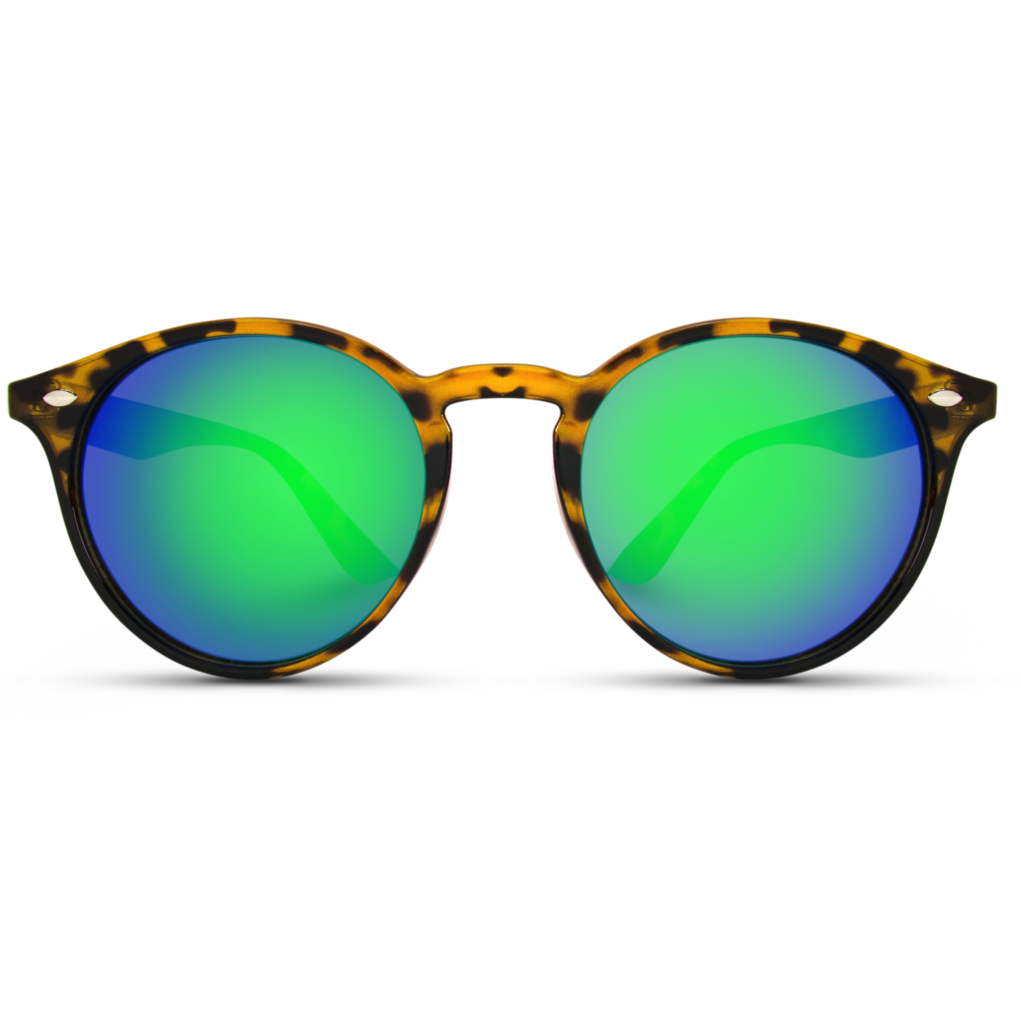 Green Mirrored Reflective Lenses New Vintage Retro Glasses Classic Round Sunglasses Perfect Fo Sunglass Frames Blue Background Images Black Background Images