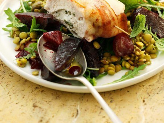 Gefüllte Hähnchenbrust mit Linsensalat ist ein Rezept mit frischen Zutaten aus der Kategorie Hähnchen. Probieren Sie dieses und weitere Rezepte von EAT SMARTER!