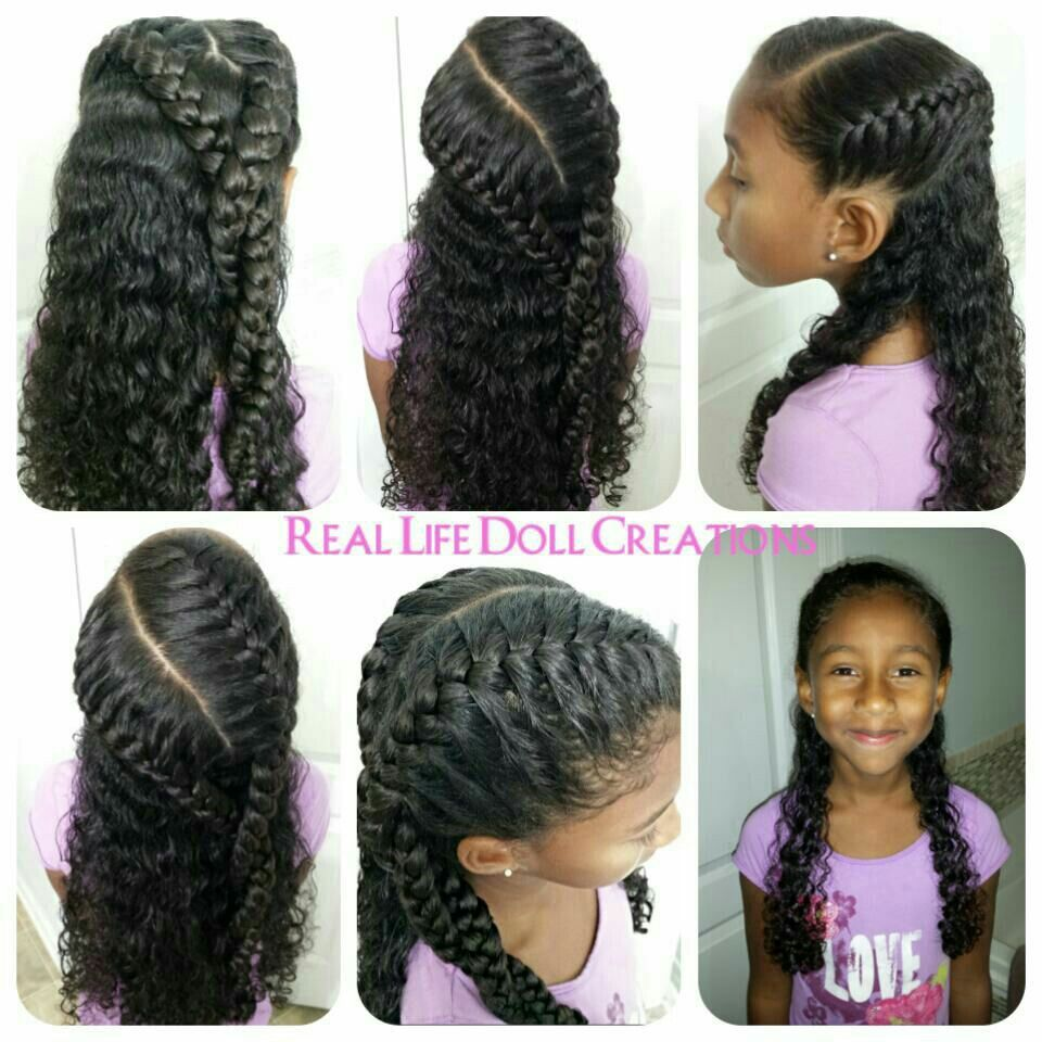 Thick Black Hair Hairstyles Real Life Doll Creations Hair For Little Girls Little Girls