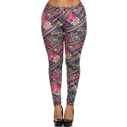ShoSho Womens Boho Print Plus Size Leggings (Pink Multi, 3X/4X) ShoSho http://www.amazon.com/dp/B00TGI2AY6/ref=cm_sw_r_pi_dp_02Wkwb0RZGJGW