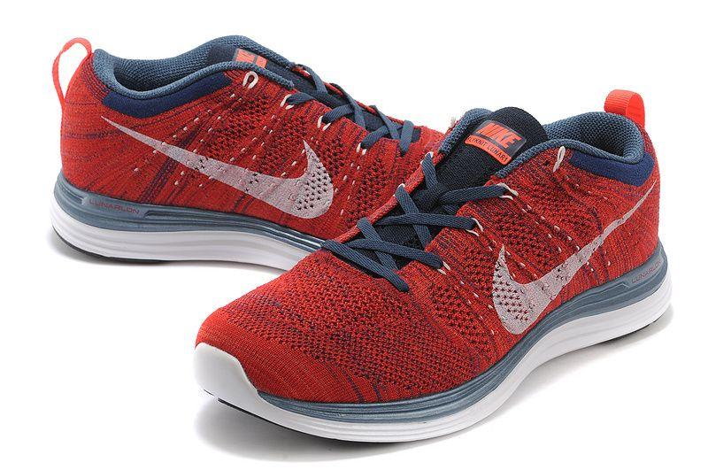 pas cher pour réduction bc386 dd582 Flyknit Lunar One+ Homme Marine Pour Nike Rouge Grise | Nike ...