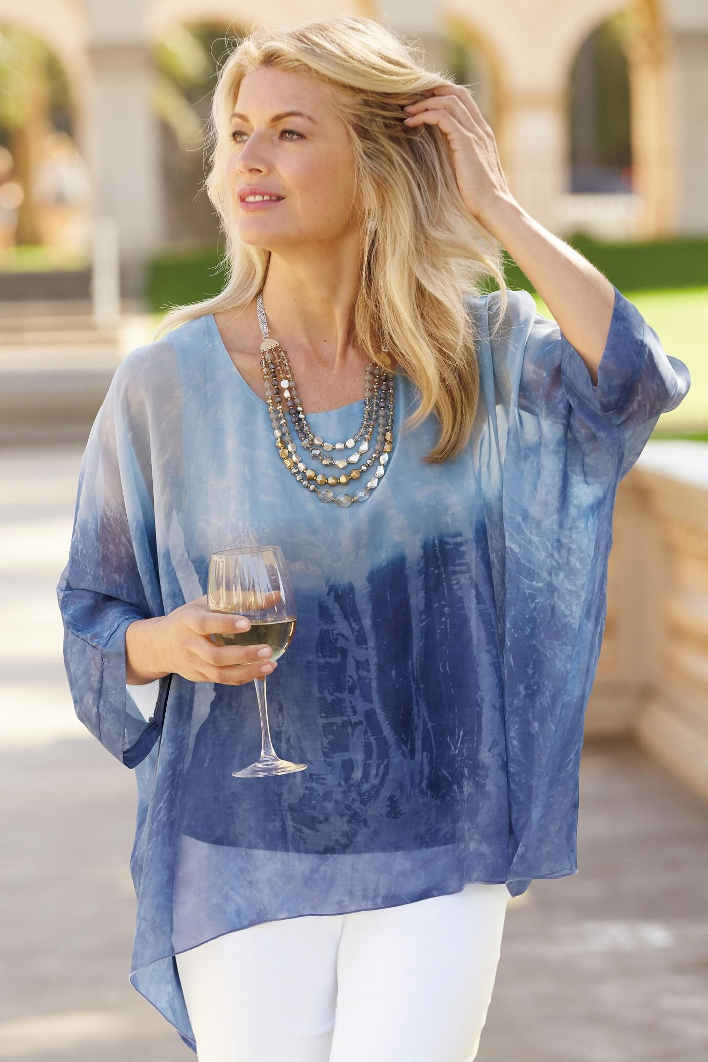 """""""Shop TravelSmith for our Watercolor Ombre Layered Top ..."""