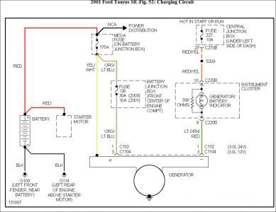1326b6e9b0db36d8fbcbd5239c49ca10 2001 ford taurus wiring diagram alternator pinterest taurus 2002 Ford Taurus Ignition Diagram at soozxer.org