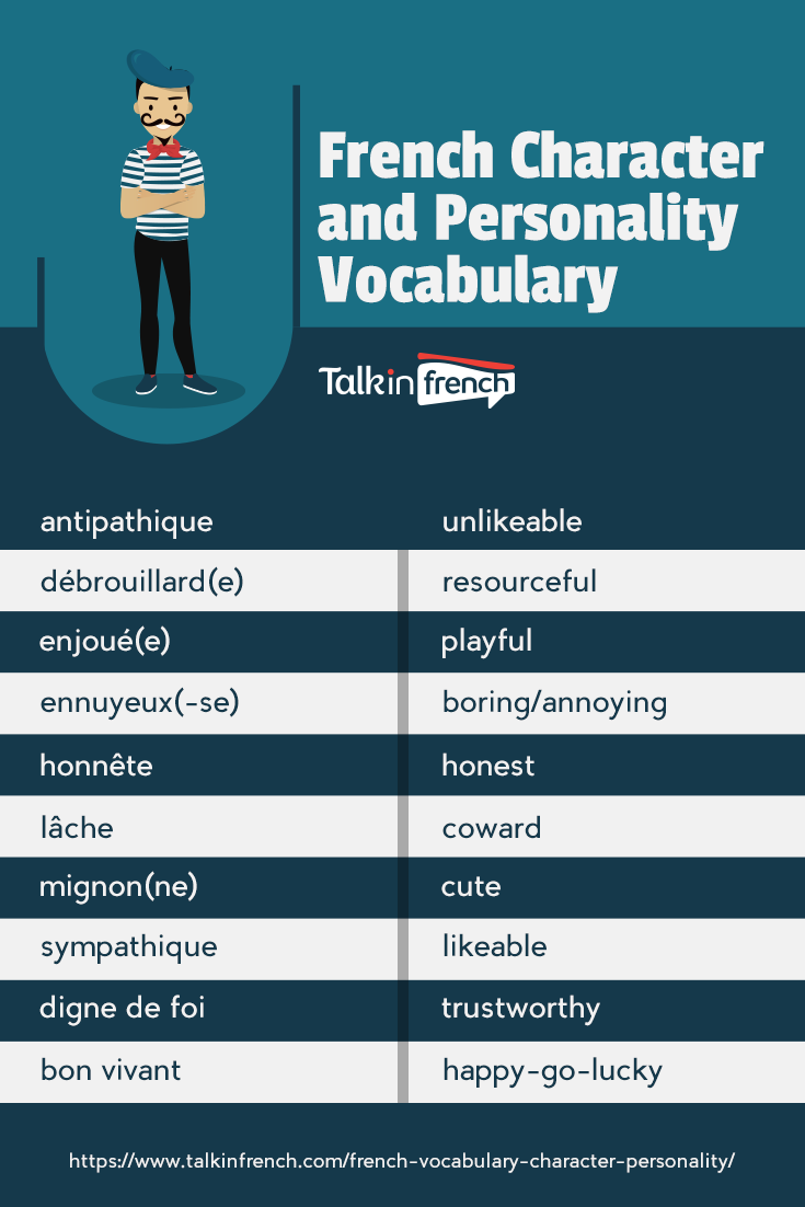 French Vocabulary: Character and Personality