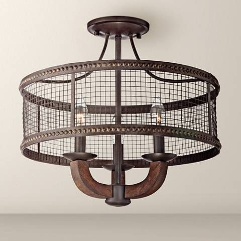 Frankton industrial 16 wide bronze ceiling light
