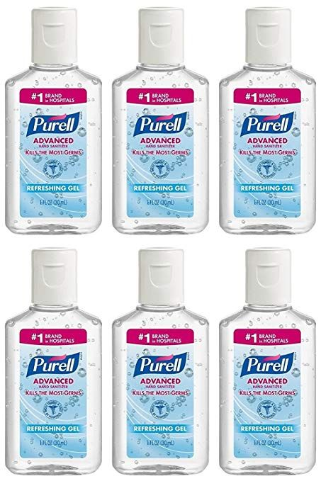 Purell 24 Count Fragrance Free Hand Sanitizer Gel 9605 24