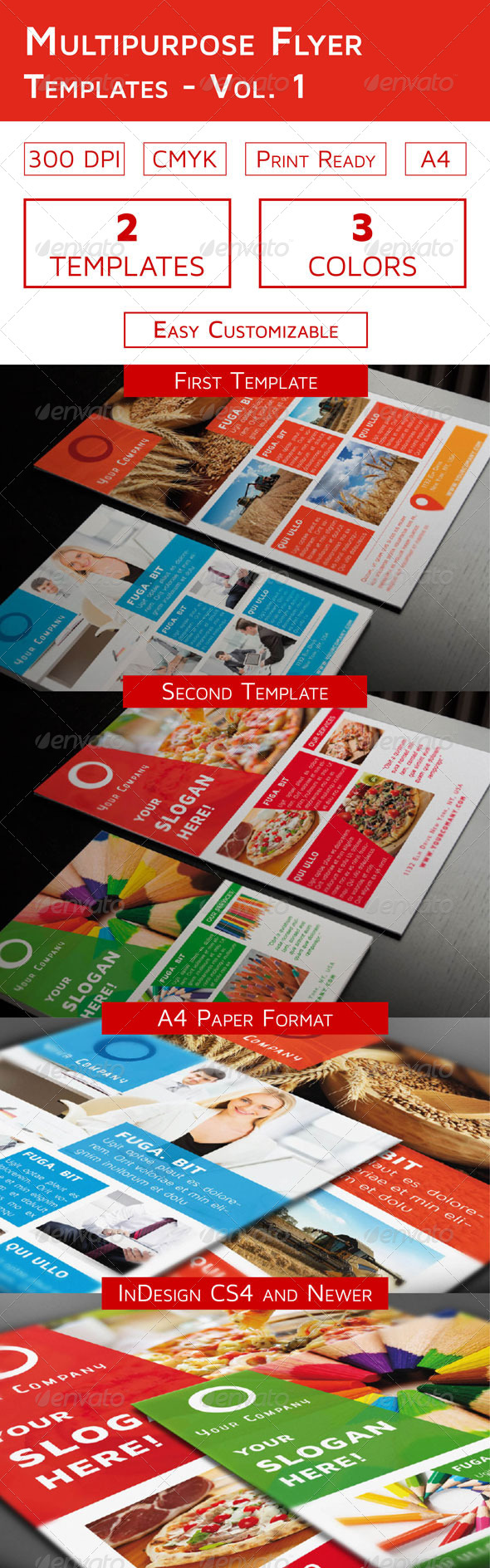 Multipurpose Flyer Templates  Vol   Flyer Template Template