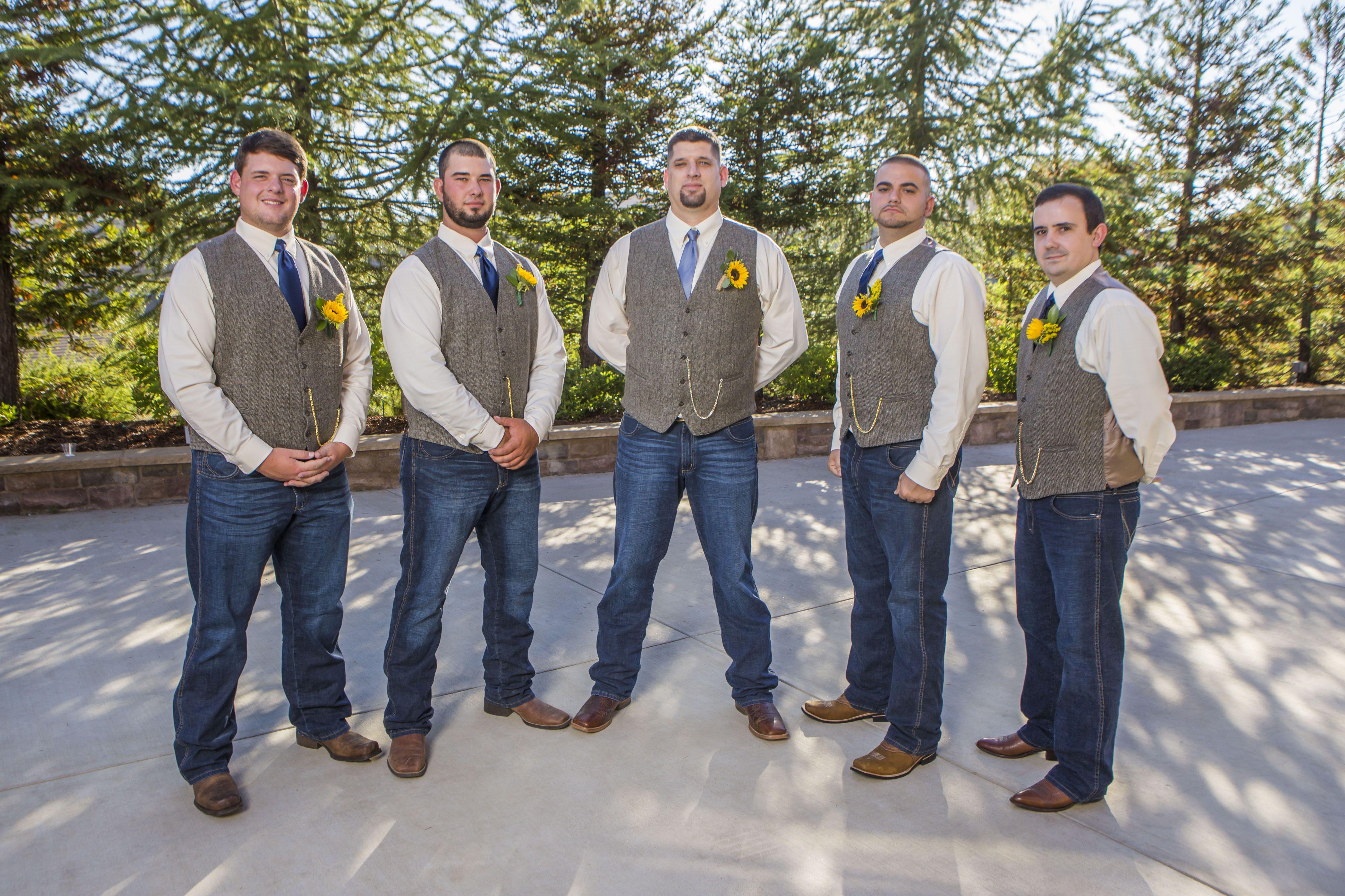 Groom/Groomsmen Attire Wrangler Jeans, Tweed Vest