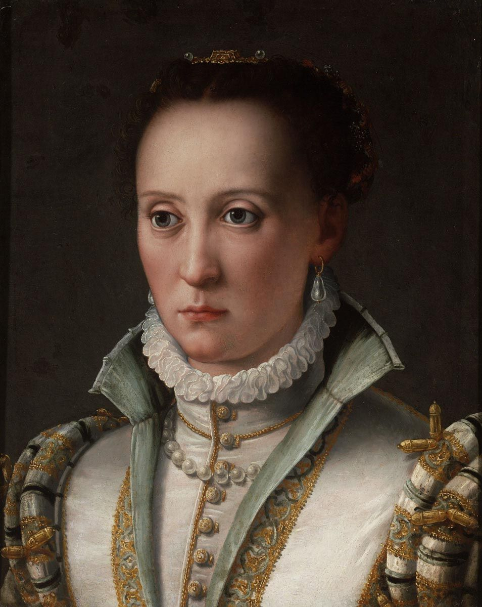 1570s ascribed to Agnolo di Cosimo Bronzino - Portrait of a Young Lady