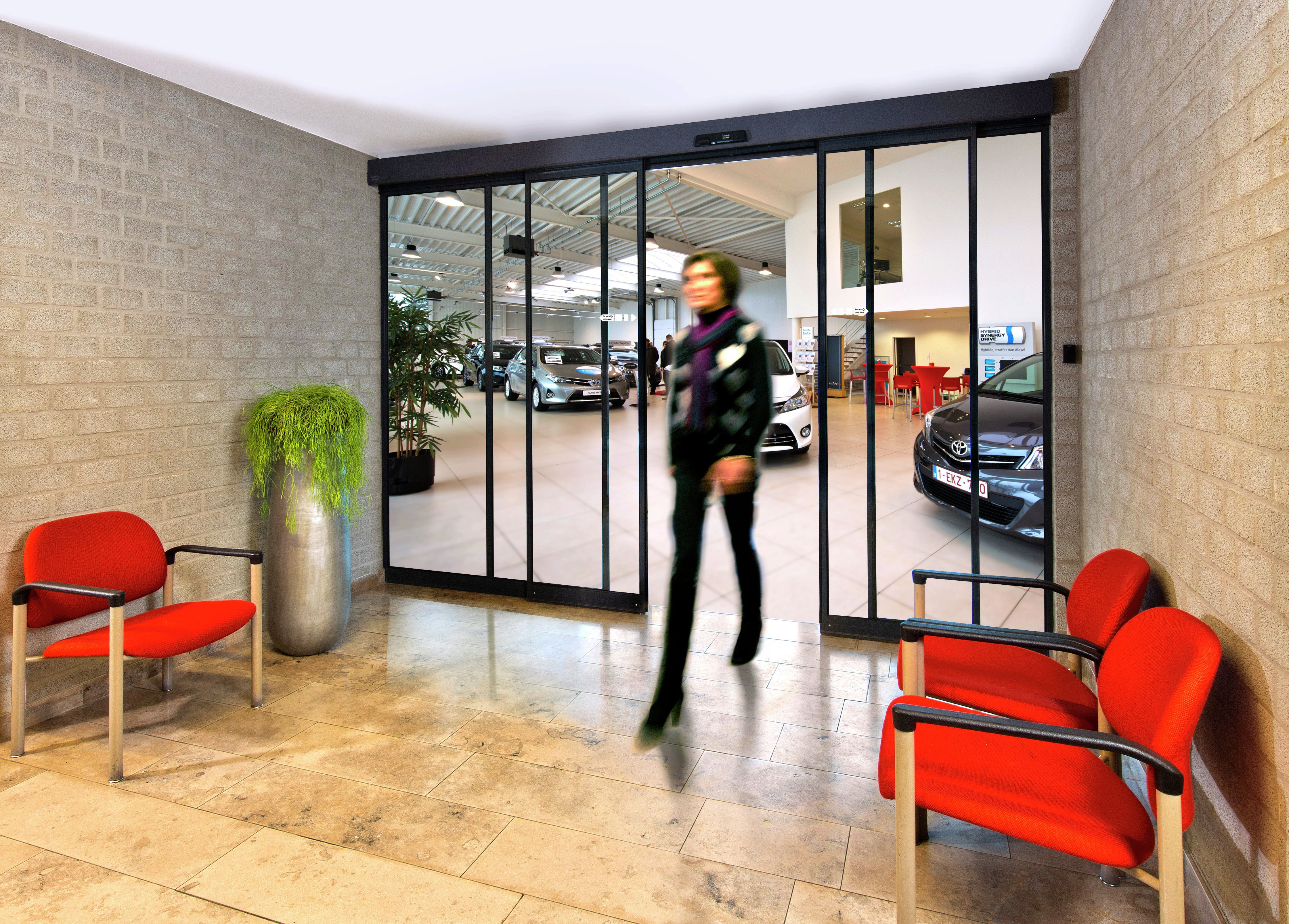 Besam Slim Thermo Sliding Door System providing a welcoming and highly energy efficient entrance. & Besam Slim Thermo Sliding Door System providing a welcoming and ...