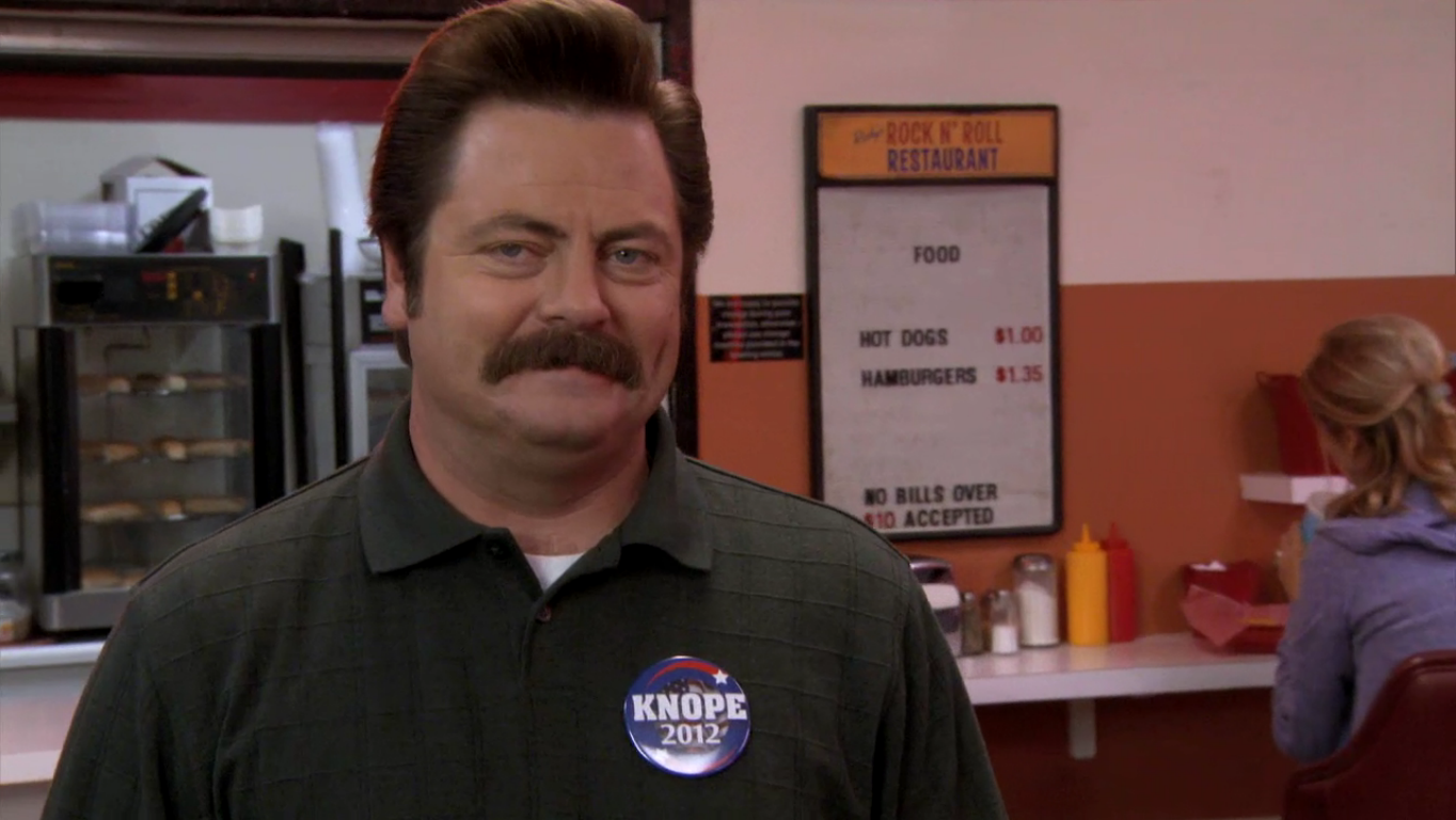 Ron Swanson 413 This Bowling Alley Has My Favorite Restaurant In