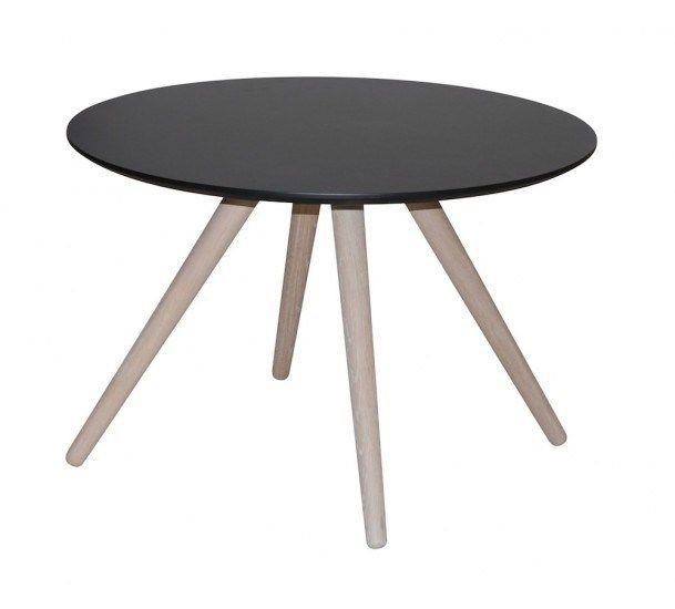 Stavanger Sofabord - Ø75 - Sofabord med sort bordplade - Ø75 cm ...