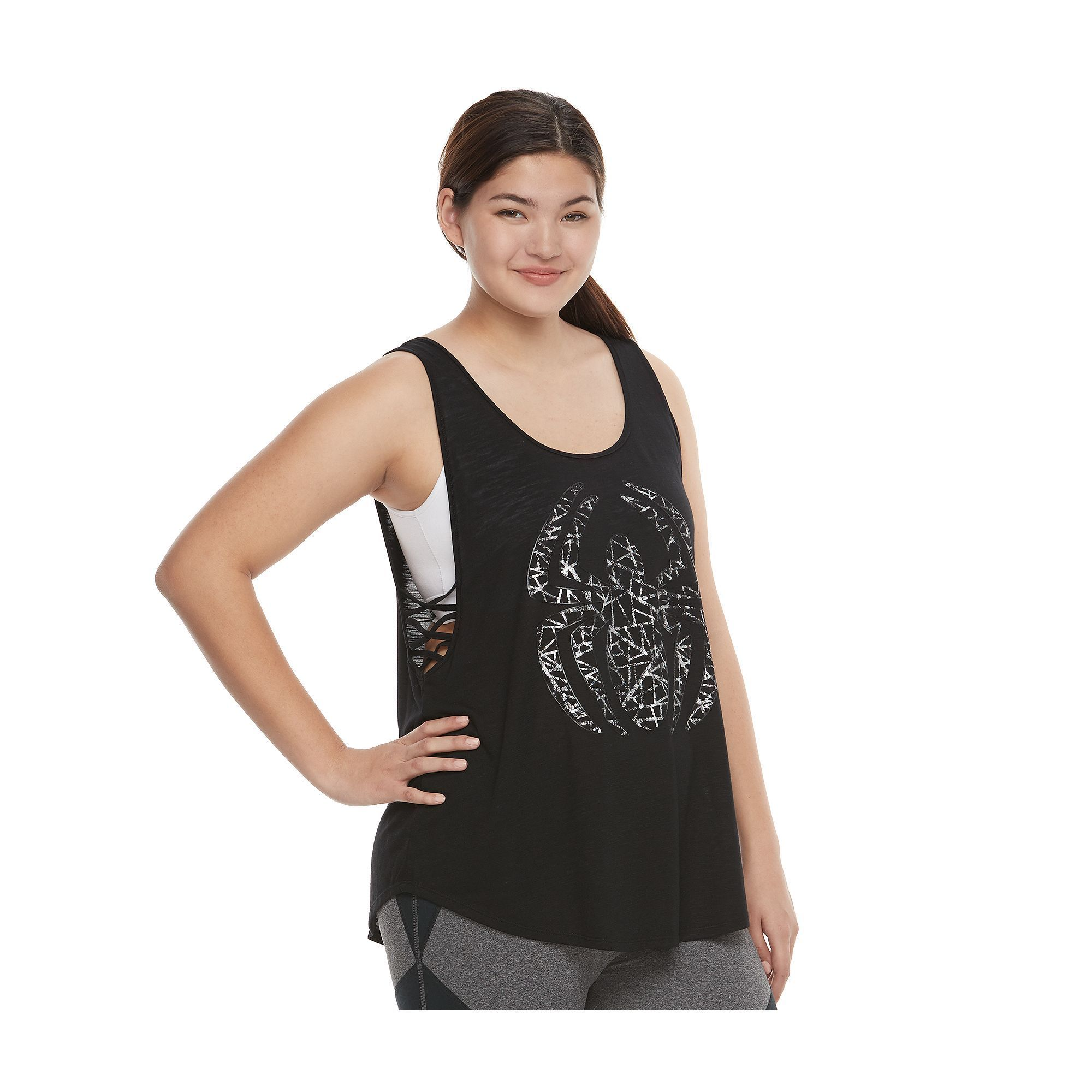 ca00d66e0f309 Juniors  Plus Size Marvel Hero Elite Spider-Man Strappy Graphic Tank by Her  Universe