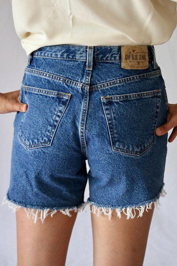32a9272a8fb Vintage Gap Denim cut offs   shorts   jean shorts   mom jeans   high rise    high waisted   90s   80s
