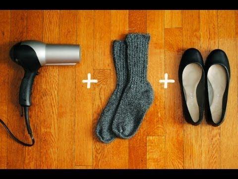 Para agrandar zapatos. Ponerse medias gruesas  474fd9ff8ed8e