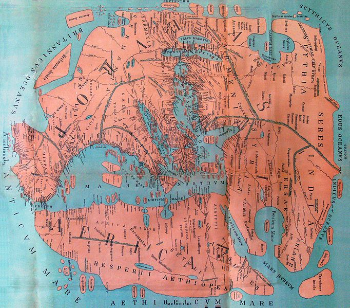 FileKarte Pomponius Mela rotatedjpg Maps Pinterest - copy world map africa continent