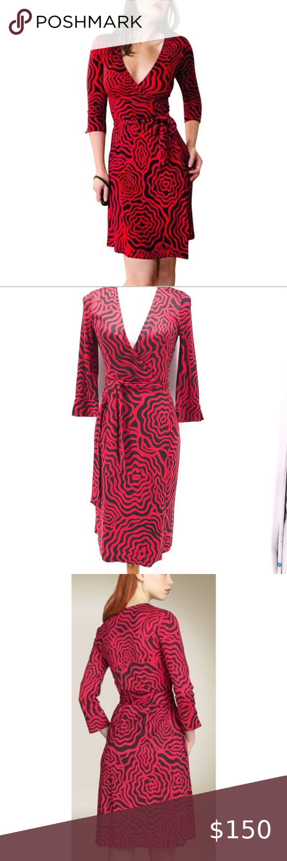 Vintage Dvf Julian Two Silk Jersey Wrap Dress Sz 4 Jersey Wrap Dress Dresses Wrap Dress [ 1740 x 580 Pixel ]