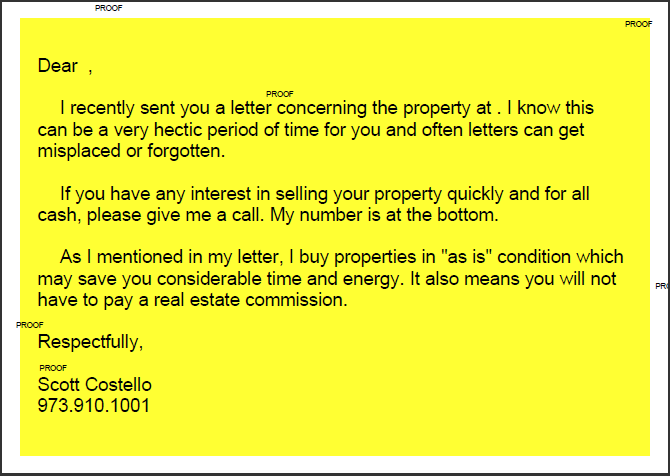 Yellow Letter Sample Google Search Real Estate Short Sale