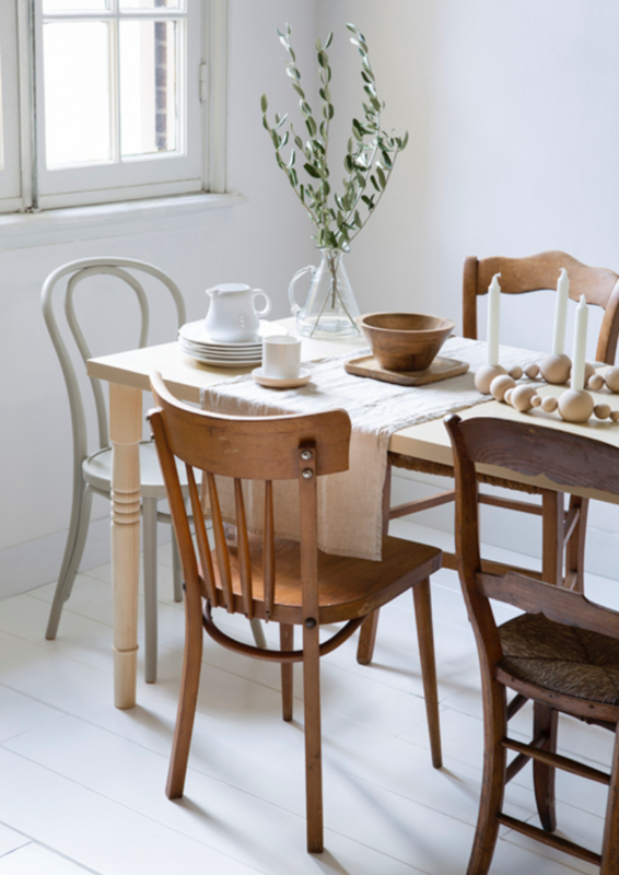 DIY Guide to Bleaching Furniture Mismatched dining
