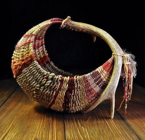 hammock style antler basket in reds design and weaving by mark hendry for appalachian artist tree hammock style antler basket in reds design and weaving by mark      rh   pinterest