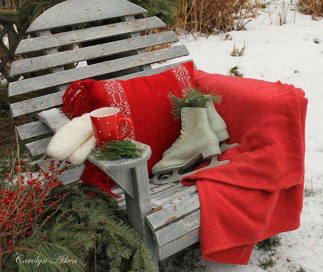 Cozy Prim Christmas...in the snow...Aiken House & Gardens.