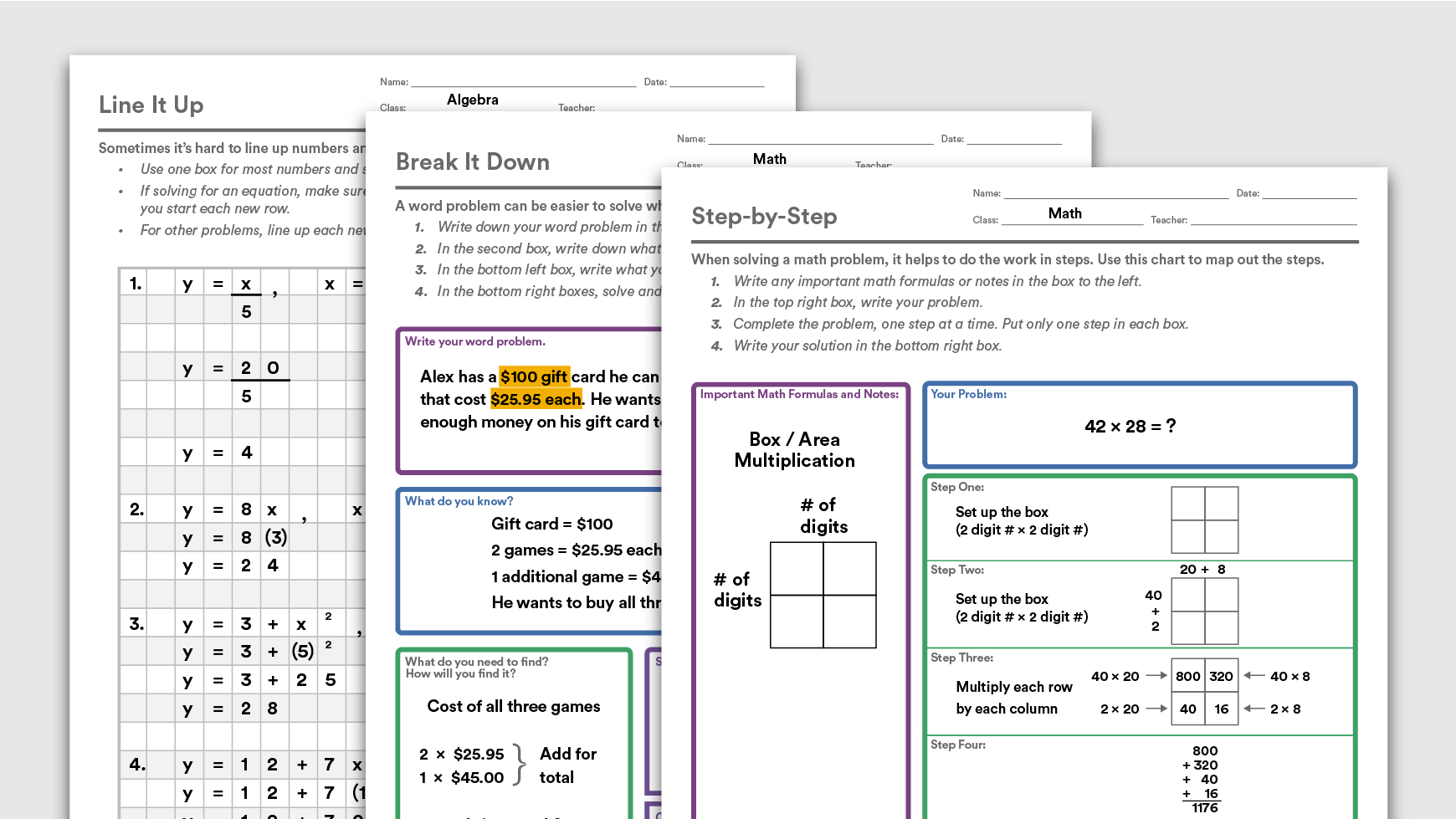 Download: Graphic Organizers to Help Kids With Math | Graphic ...