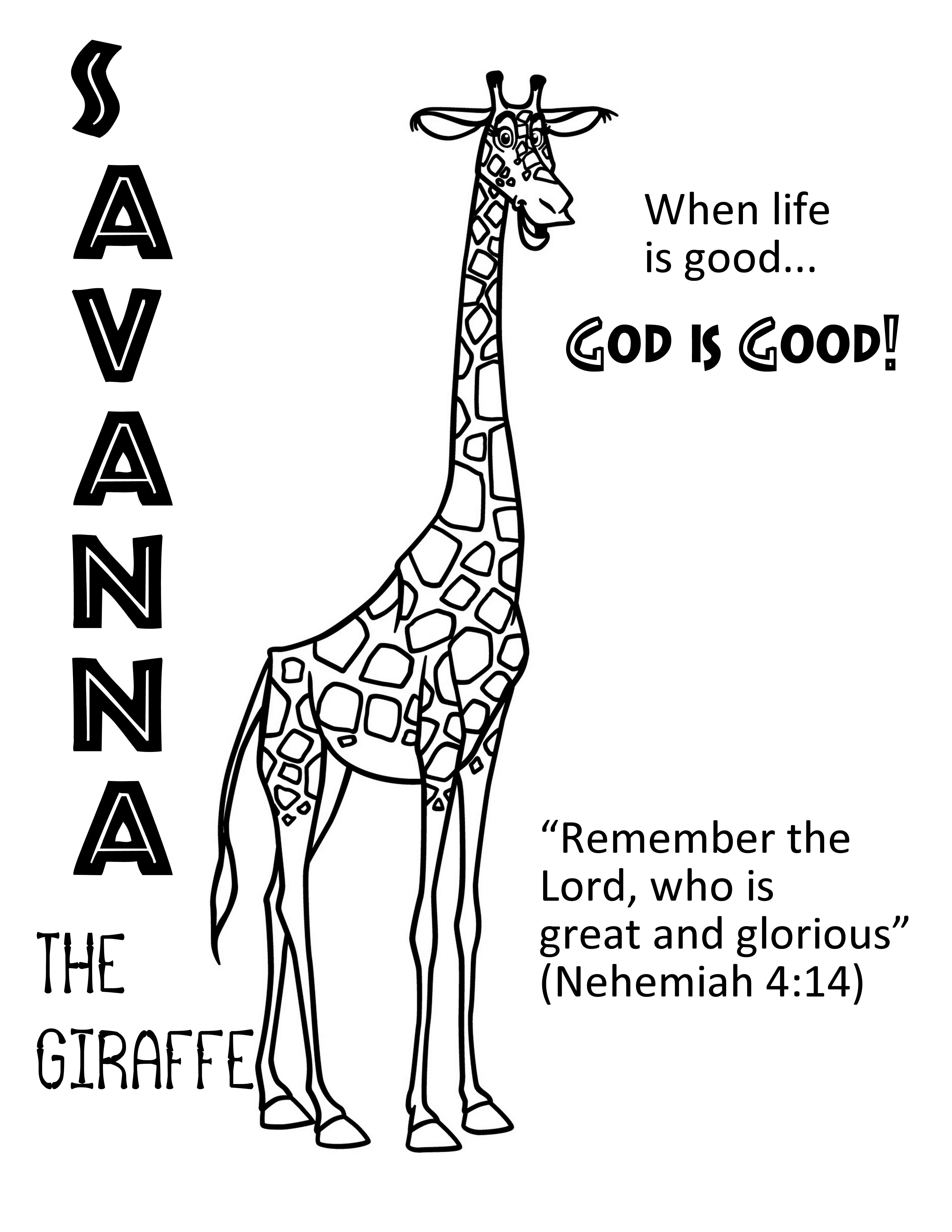 Roar Vbs Day 5 Savanna Coloring Page