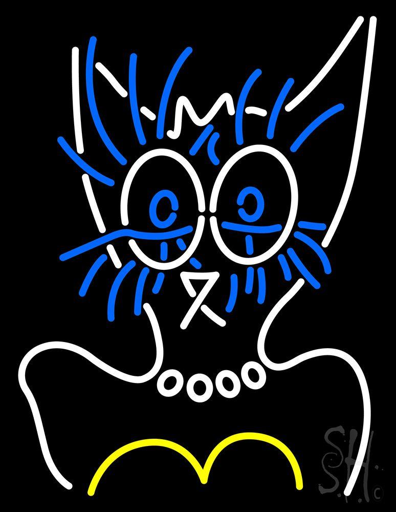 Lady Cat Logo Neon Sign Cat logo, Logos, Neon signs