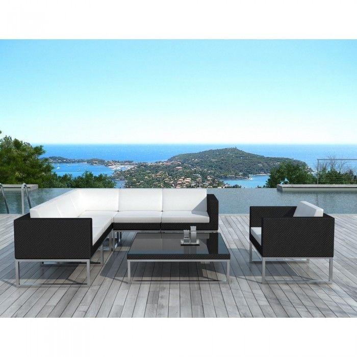 Mobilier de jardin noir - Achat/Vente mobiliers de jardin noirs ...