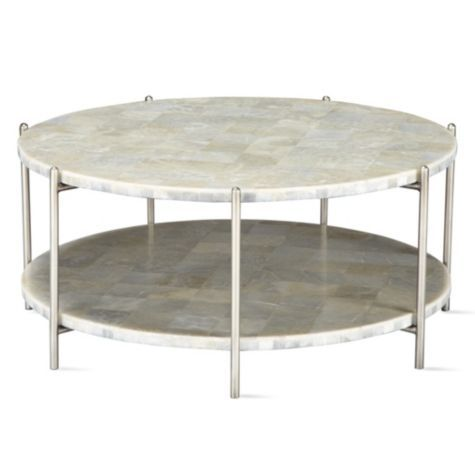 Glacier Coffee Table From Z Gallerie Round Coffee Table Round