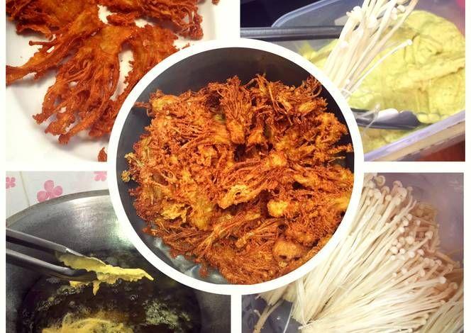 Resep Jamur Enoki Goreng Krispi Oleh Sherry Resep Resep Jamur Jamur Resep Makanan