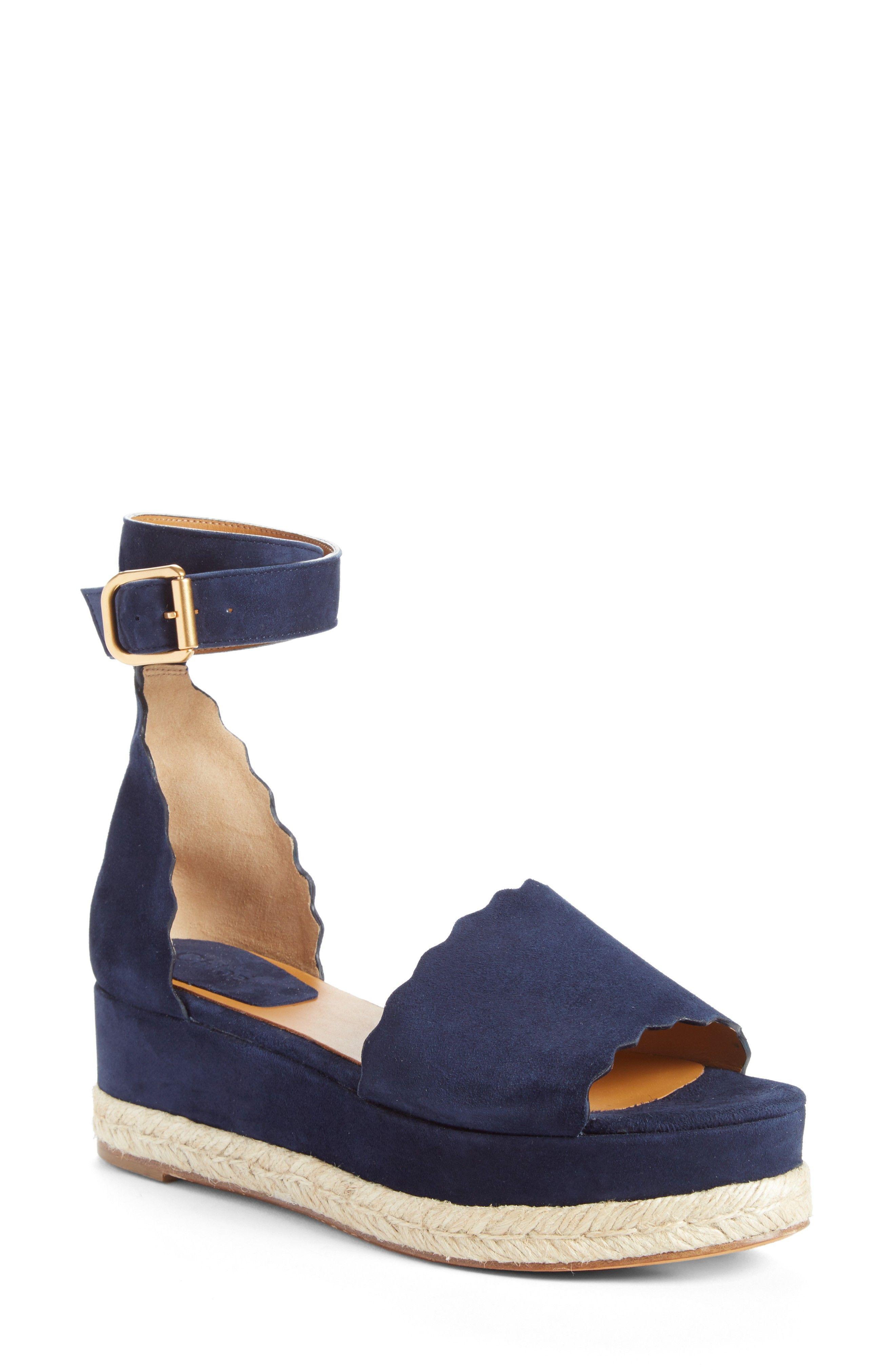 Lauren Espadrille Wedge Sandal Navy Espadrille Wedges