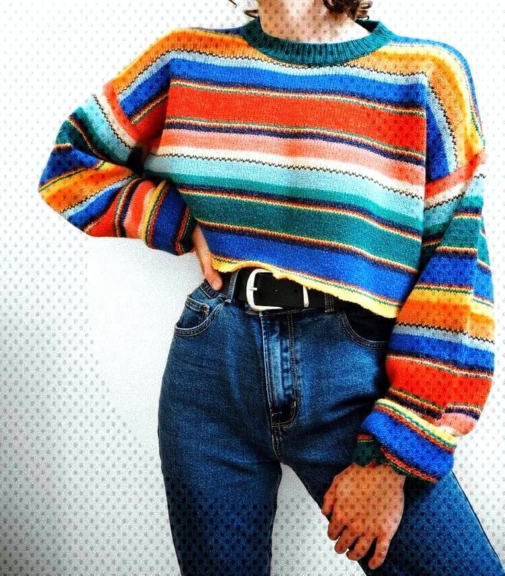 Ich entschied mich, den Pullover zu schneiden, und ich liebe ihn noch mehr - Ich entschied mich, de