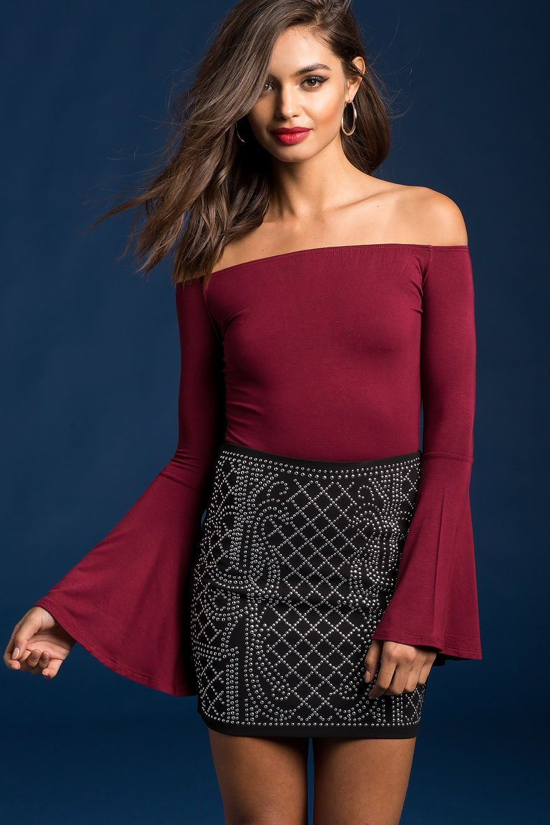 Bell sleeve off shoulder topbell sleeve off shoulder top small buy